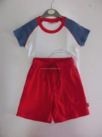 Baby t-shirt and pants 100% cotton fabric 2pcs baby clothes set