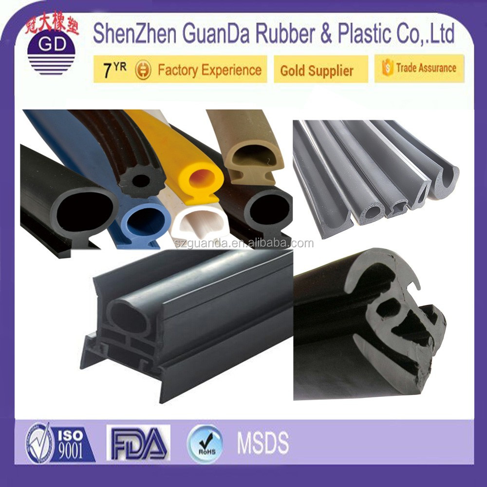 Extruded waterproof boat windshield rubber seal