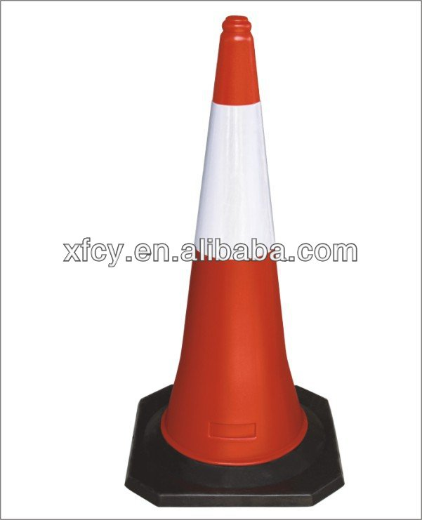 hot sale rubber road traffic cone ( ISO approved )