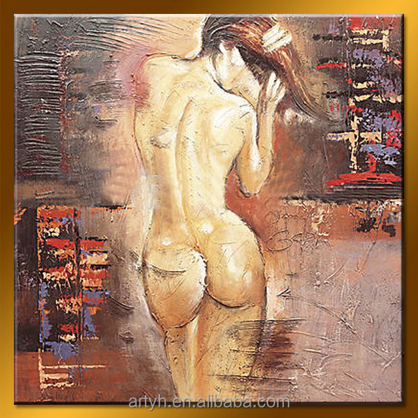 Handmade nude women back home design oil painting for decor