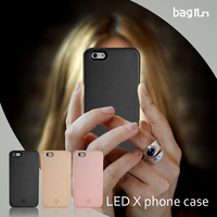 Selfie no lumee logo led light phone case for iphone with ios cable charging battery customerzied logo & color