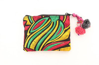 Small Coin Purse with Beautiful Carnival Pattern - Rasta