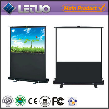 Motorized floor projection screen parts for projector for Motorized floor up screen