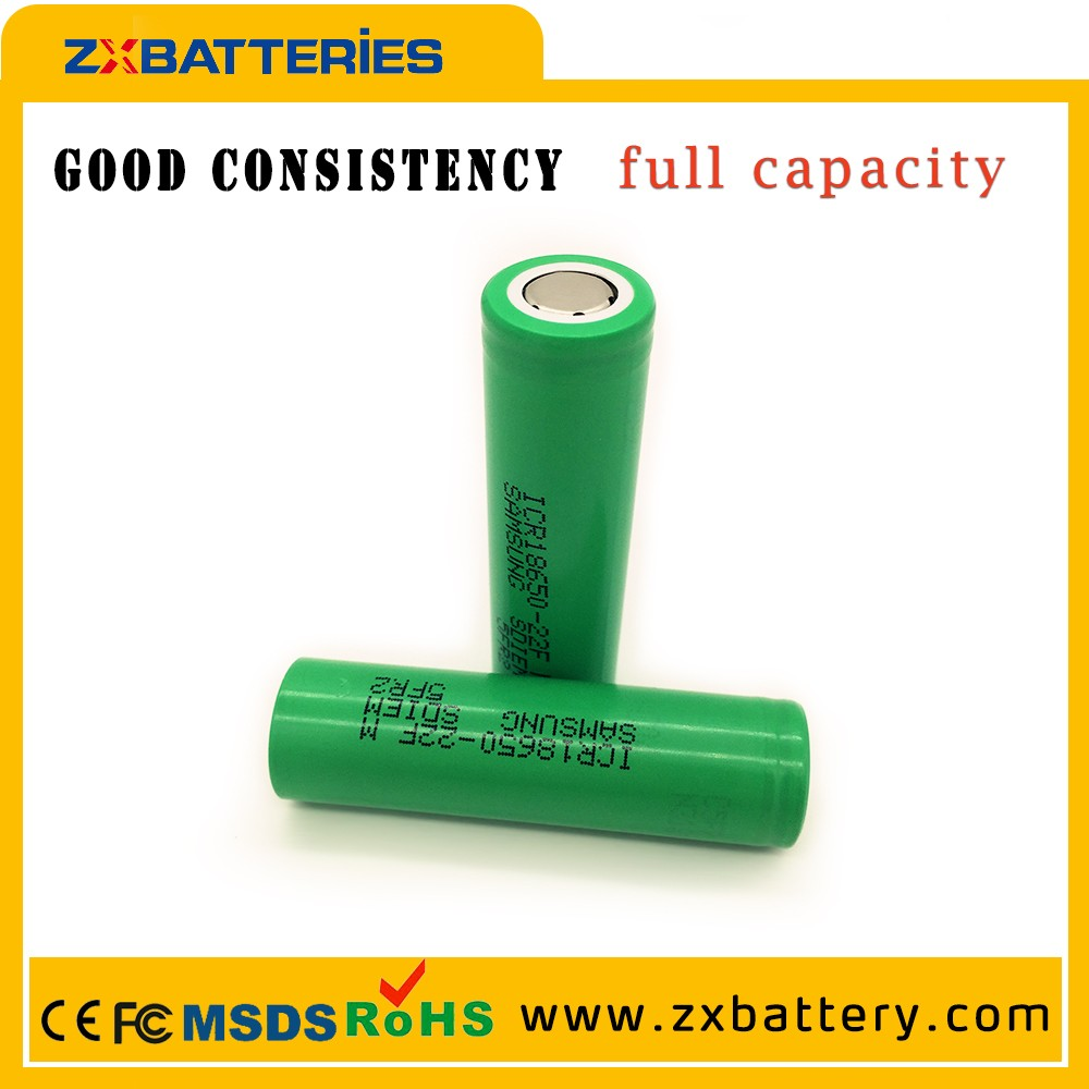 Original 18650 samsung icr18650 22fm 2200mah 3.7v lI-ion battery with wholesale price for vapor tanks