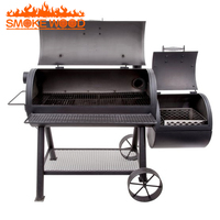 2017 New Arrival Heavy duty Two large Barrels Smoker Barbecue Grill Outdoor Commercial Bbq Charcoal Oven Pellet Grill Smoker