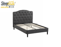 Adjustable Headboard Upholstered Bed Frame With Wooden Slat Support For Modern Furniture Guangdong
