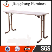 Round Plywood Foldable Pvc Coated Hotel Dining Table JC-T24