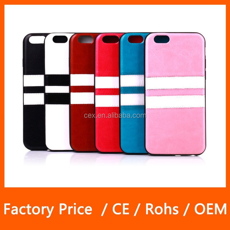 New Arrival Crazy Horse Design PU Leather Skin TPU Gel Carring Case Snap-On Cover For Apple iPhone 6