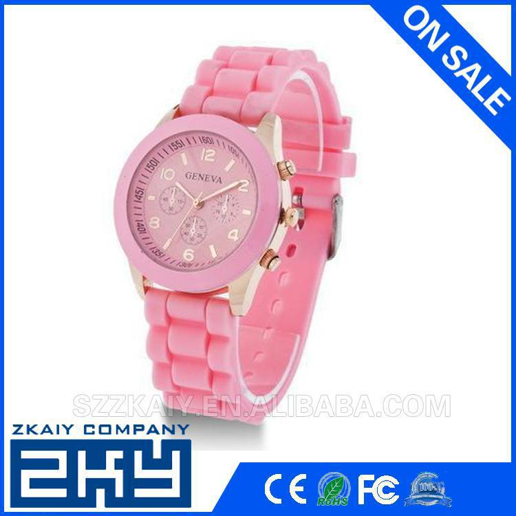 2016 Fashion Jelly Silicone Women watch quartz silicone geneva watch