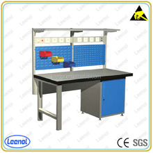 Industrial Workbench Mechanics Work Bench Electronic Work Table with Rack
