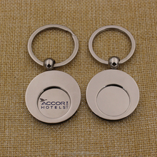 Promotion gifts blank metal Canadian shopping cart token keychain coin kering