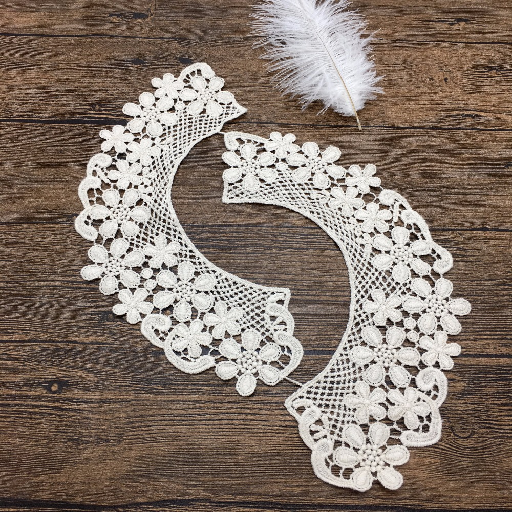 OLN14163 crochet fashion neck design collar african lace for stand collar