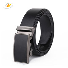 Men Fashion Genuine Leather Belt with Leather Covered Buckle