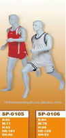 New arrival store fixture fiberglass male soccer dummy display football mannequin sale