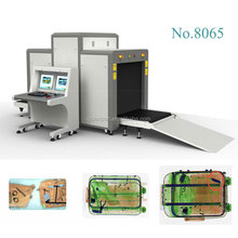 Airport x-ray baggage scanner