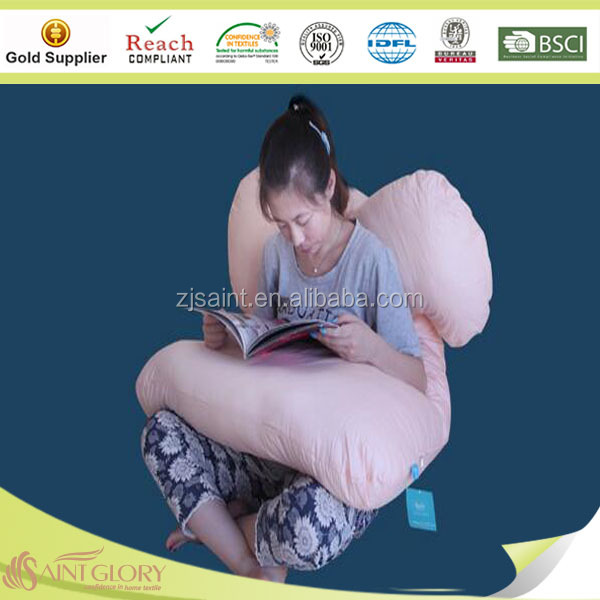 Comfortable body removed u shape maternity adult cushion women pillow with nylon zipper