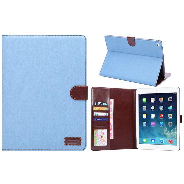 Jeans pattern leather case for iPad air 2