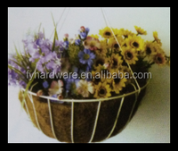 wire hanging baskets with coconut liners Hanging flower basket