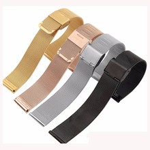 2018 Luxury Stainless Steel Mesh 18mm 20mm 22mm 24mm Interchangeable Smart Wrist Watch Band Strap