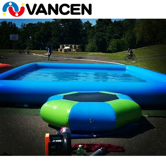 Factory customized EN15649 certified movable and portable commercial use water park inflatable pools for adults