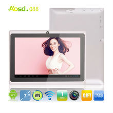 cheap best tablet with webcam tablet kindle fire hdx 7 inch dual camera allwinner a13 1.2ghz cpu firmware q88