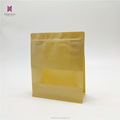 different sizes of kraft paper bag flat bottom pouch with matt window