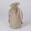 Wholesale plain small jute bag/jute gift bag/linen drawstring bag