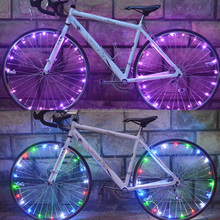 2016 Cycling Bike Bicycle Motorcycle Spoke Wheel Wire Tire Flash Neon Strip Light Lamp Bike Strip Lamp