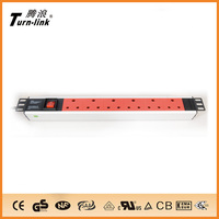 1.5U South Africa 6ways PDU Socket