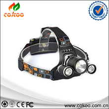 XML T6 LED rechargeable flashlight 5000Lm Rechargeable LED Headlamp T6 Flashlight Head Torch lamp with Charger 18650 Battery