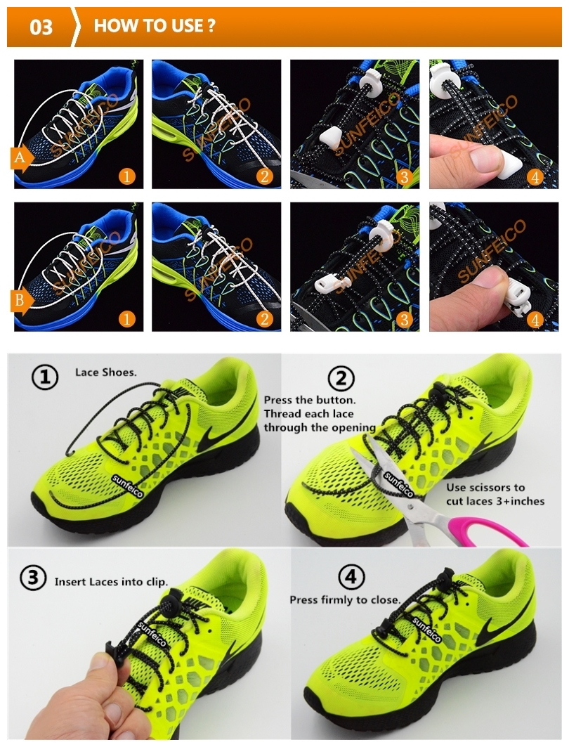 (MOQ:100pair)2017 Lock Laces for Sneakers available in 50 colors with 12 locks options + 6 packaging options~Amazon Supplier