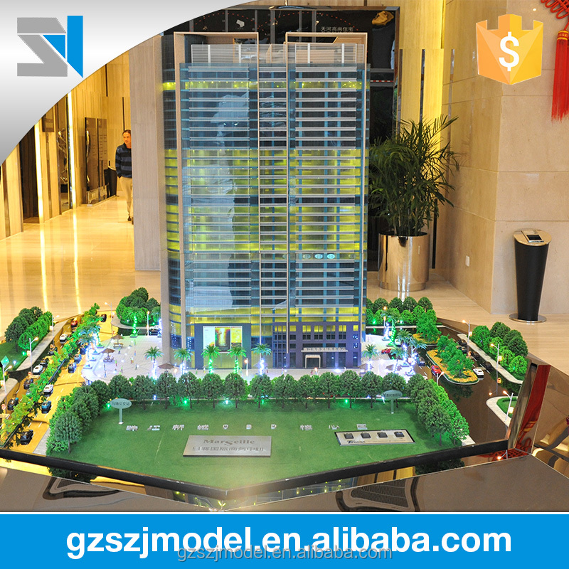 china supplier city plan miniature architecture model with trees