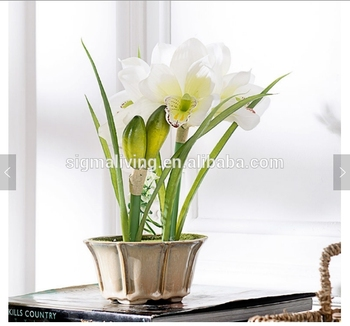 American country style artificial cymbidium potted silk orchid