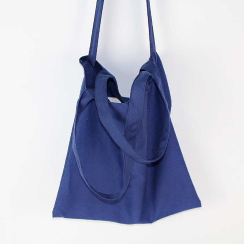 Simplicity Lovely Cotton Canvas Bag Friendly Shoulder Strap Bags Tote