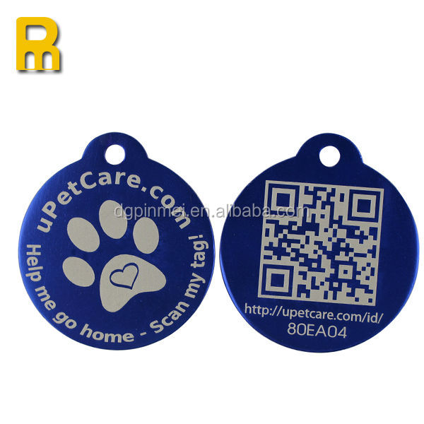 2014 new products aluminum pet tag laser engraving
