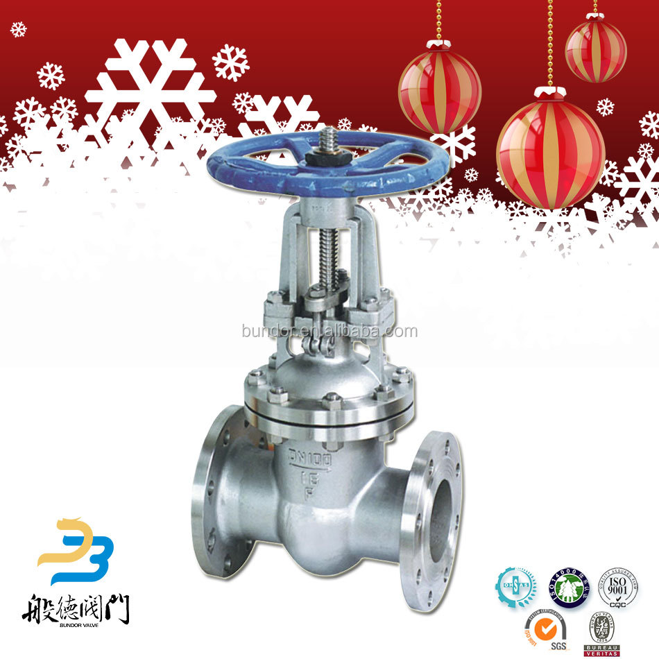 High pressure hand double flanged large diameter carbon steel gate valve