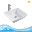 LM-287 Ceramic above counter bathroom cabinet wash basin with CUPC certificate