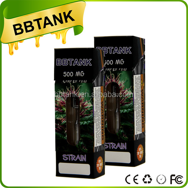 BBtank manufacturer 0.5 1ml thc cbd co2 metal mouthpiece hemp oil vape cartridge 510 battery gift box packaging
