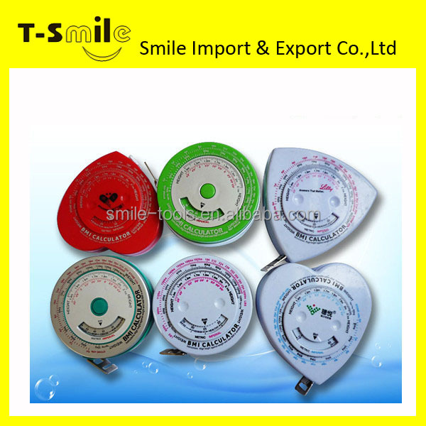 BMI Cheap Mini Measuring Tape Body Mass Index Tape Measure