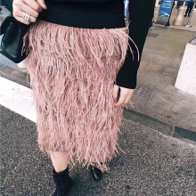 Noble high grade lady real ostrich feather skirt / beautiful skirts / fashion summer short skirt