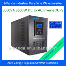 dc to ac 5000VA pure sinus wave inverter 220V with battery charge and UPS function