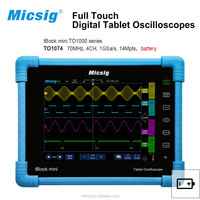 70MHz Digital Tablet oscilloscope with 8'' discplay, 4 channels 14Mpts memoery depth Battery