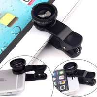 Fish eye lens 3 in 1 universal mobile phone camera wide+macro+fisheye lens for iphone samsung universal phone lenovo for LG HTC