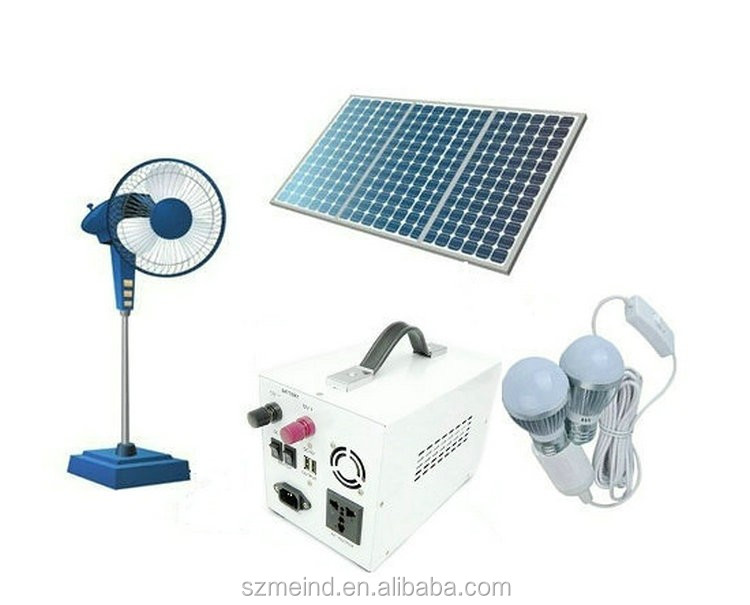 New product the solar system 300w work with solar fan,LED,mobile phone charging