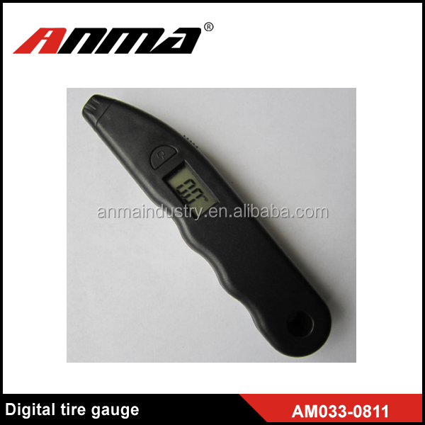 Long Black Lighted Display Auto Digital Tire Pressure Gauge Meter