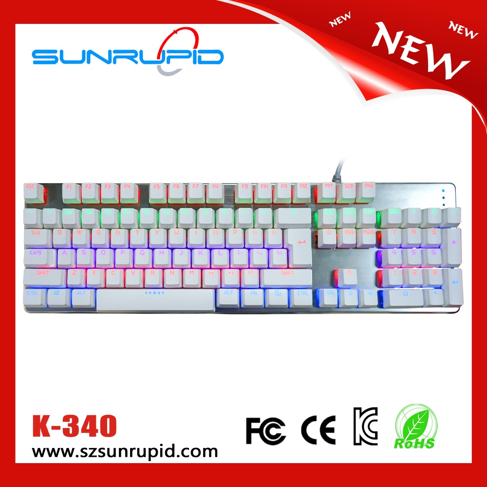 Illuminated LED Backlight Mechanical Keybaord with USB Connection