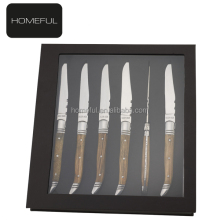 wholesale stainless steel laguiole steak knife with stainless flatware