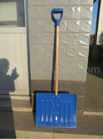 Push remove plastic snow shovel