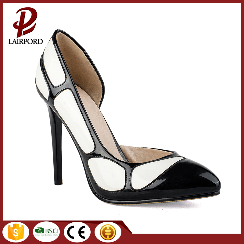 ELEGANT LOW CUT DESIGN China factory directly supply wholesale red bottom stiletto high heel pump shoes