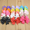 "2016 3"" high quality character handmade Wholesale grosgrain ribbon bow flowers making rose hair bows flower for baby headbands"